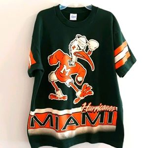 Vintage University of Miami Hurricanes tee